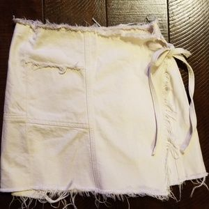 Urban Outfitters Nude Denim Skirt
